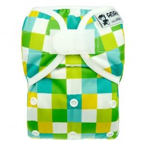 Anavy Newborn Overbroekje met velcro Vierkant Groen (2-6 kg)