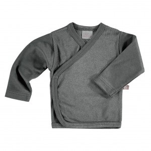 Limobasics Overslag T-shirt met lange mouwen Donker Grijs