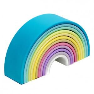 Dëna Silicone Speelgoed Regenboog Pastel Groot (Lengte 18 cm)