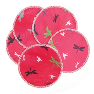 Cheeky Wipes Minky Pads Libel en Vogels Roze 5 stuks