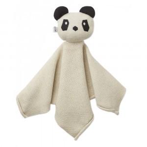 Liewood Knuffeldoekje Knit Panda Beige