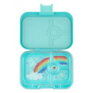 Yumbox Panino Misty Aqua met Tray Rainbow