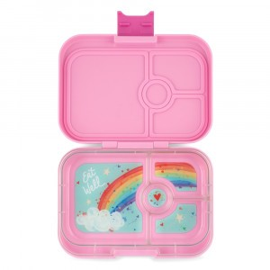 Yumbox Panino Power Pink met Tray Rainbow
