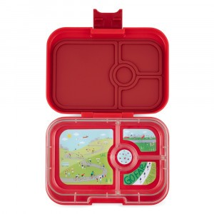 Yumbox Panino Wow Red met Tray Bike Race