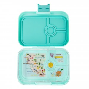 Yumbox Panino Surf Green met Tray California