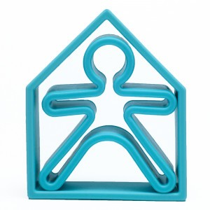 Dëna Silicone Speelgoed Pop + Huis Pastel Blauw