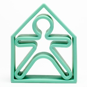 Dëna Silicone Speelgoed Pop + Huis Pastel Groen