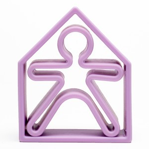 Dëna Silicone Speelgoed Pop + Huis Pastel Violet