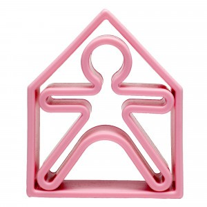 Dëna Silicone Speelgoed Pop + Huis Pastel Roze