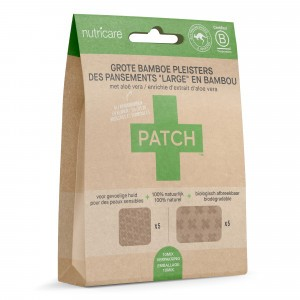 Patch Grote Bamboe Pleisters met Aloë Vera - brandwonden en blaren (10-mix pack)