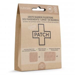 Patch Grote Bamboe Pleisters Natural - snijwonden en schrammen (10-mix pack)
