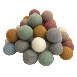 Papoose Toys Earth Vilten Ballen (49 stuks) 3,5 cm