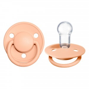BIBS Fopspeen Deluxe Silicone (onesize) Peach Sunset