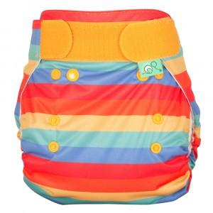 Totsbots Peenut Wrap Rainbow Stripe maat 1 (2,7-8 kg)