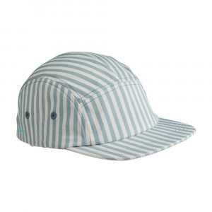Liewood Pet Stripe Sea Blue/White