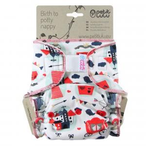 Petit Lulu One Size Luier Velcro Kasteel (4-15kg)