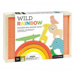 Petit Collage Houten Evenwichtsspel Regenboog
