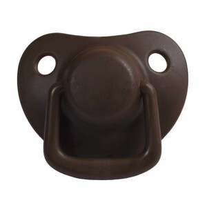 Filibabba Fopspeen Fysiologisch Silicone 0-6 maanden Chocolate (2 pack)