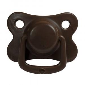 Filibabba Fopspeen Fysiologisch Silicone +6 maanden Chocolate (2 pack)