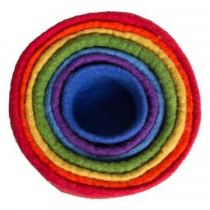 Papoose Toys Rainbow Nest Kommetjes (7 stuks)