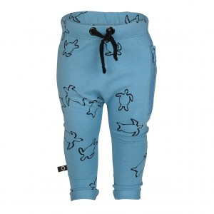 nOeser Pim Sweat Pants Long Turtle Ocean Blue Baby