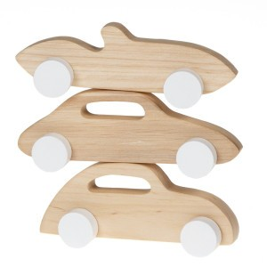 Pinch Toys Houten Set Mini Sportauto's