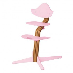 Nomi Highchair Pale Pink / Oiled Oak