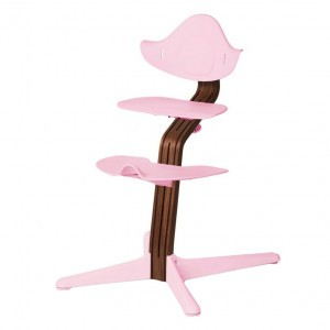 Nomi Highchair Pale Pink / Oiled Walnut