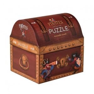 Crocodile Creek Box puzzel piraten (48 stukken)