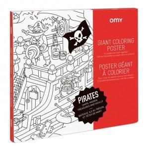 OMY Kleur Poster - Pirates