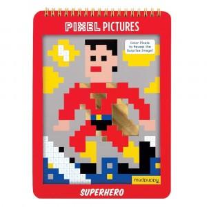 Mudpuppy Pixel Kleurplaten Superhero