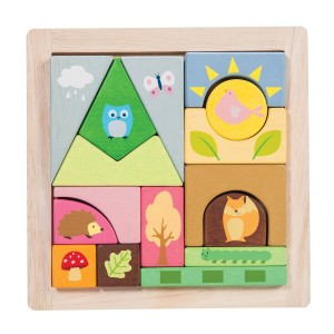 Le Toy Van Petilou Puzzel Blokken Woodland