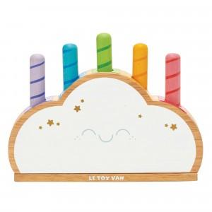 Le Toy Van Petilou Pop Up Spel Regenboog Wolken