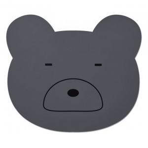 Liewood Silicone Placemat Mr. Bear Stone Grey
