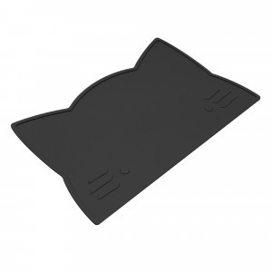 We Might Be Tiny Placemat Kat - Pure Black