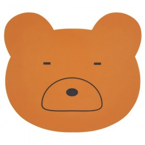 Liewood Silicone Placemat Mr. Bear Mosterd