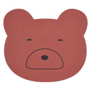 Liewood Silicone Placemat Mr. Bear Roest