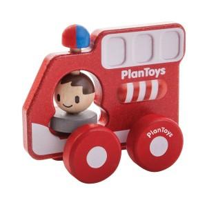 PlanToys Grijpvoertuig Brandweerwagen