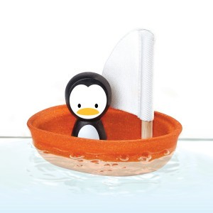 PlanToys Badspeelgoed Zeilboot Pinguin