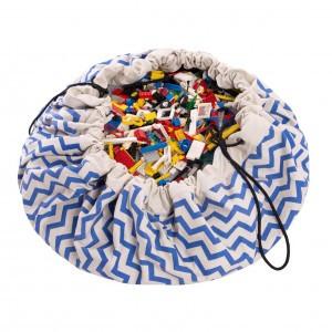 Play & Go Opbergzak/Speelkleed Zigzag Blauw