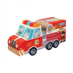 Crocodile Creek puzzel & speel brandweerwagen