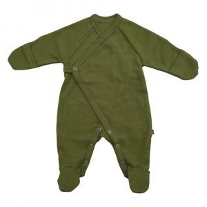 Forgaminnt Amber Yarn Pyjama met voetjes (0-3m) Guacamole