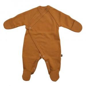 Forgaminnt Amber Yarn Pyjama met voetjes (0-3m) Mustard Sunset