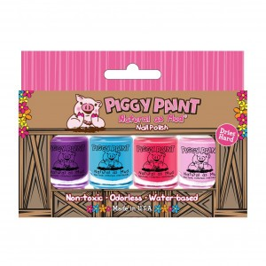 Piggy Paint Nagellak Polish Box (4 stuks)