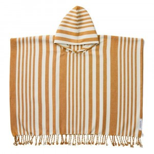 Liewood Roomie Poncho Stripe Mosterd/Creme