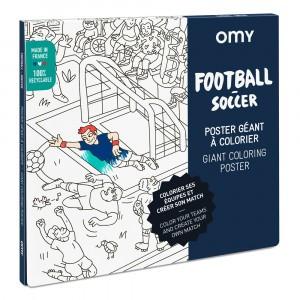 OMY Kleur Poster - Football