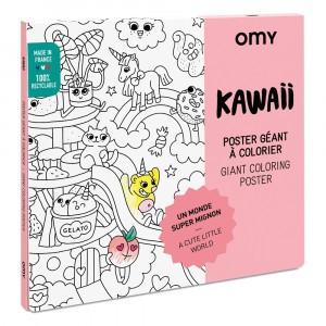 OMY Kleur Poster - Kawaii