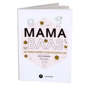 Lannoo Boek Mama Baas '28 postkaarten over moeder zijn'