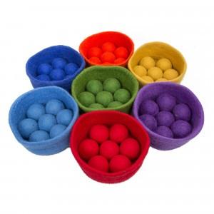 Papoose Toys Rainbow Bakjes met Ballen set (0+)