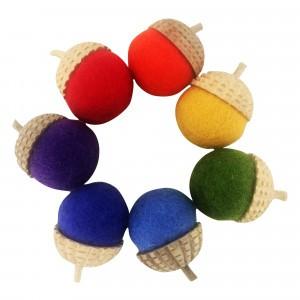 Papoose Toys Eikeltjes Rainbow (7 stuks)
